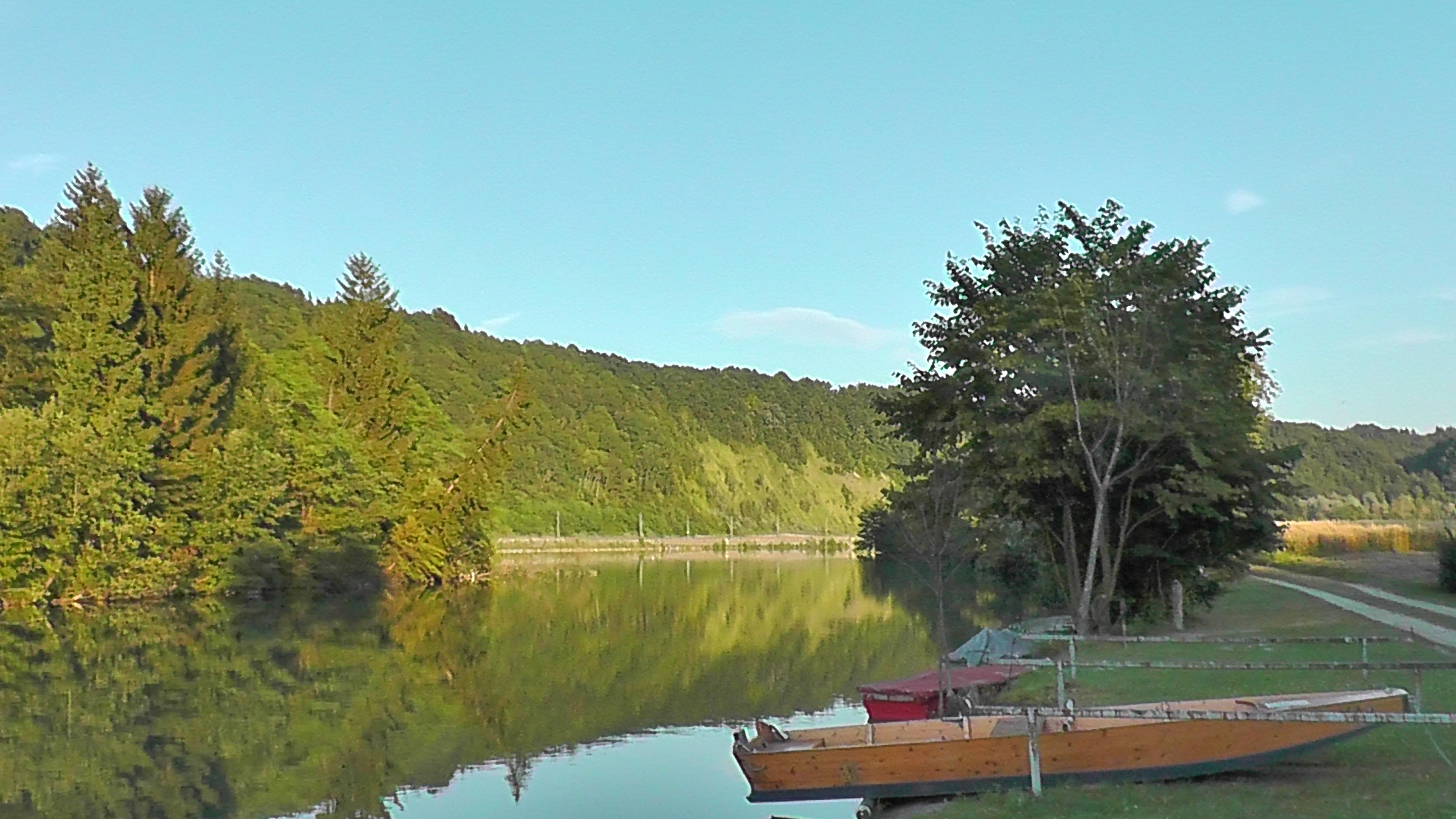 Zillen Fischerhaus am Abend