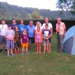 Teilnehmer Zeltlager 2015 mit Betreuer und Zelt B
