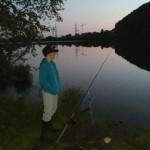 Fischerplatz Angeln am Morgen