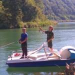 Fischen vom Tretboot aus B